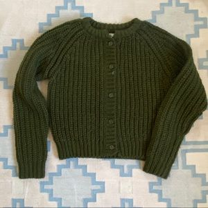 Green chunky unif x Urban Outfitters cardigan